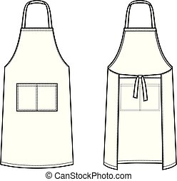 Apron - Vector illustration of apron. Culinary clothes