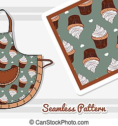 Apron With Creamy Cupcakes