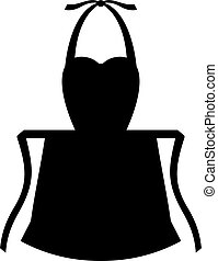 Apron with strings