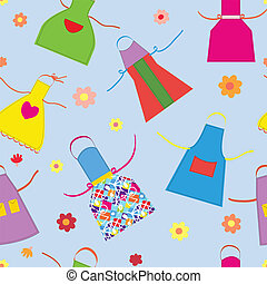 Aprons kitchen seamless pattern funny design