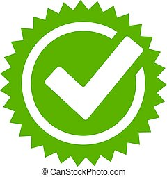 aprovação, carrapato, estrela, ícone