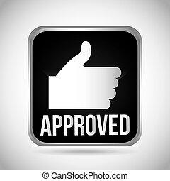 aprovação, selo