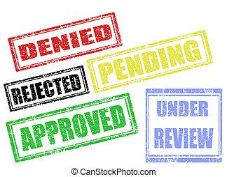 aprovação, selos