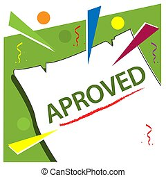 Aproved with paper stock vector