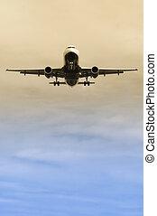 aproximação, aterragem