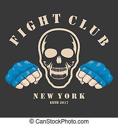 aproximadamente, emblema, luta, club.