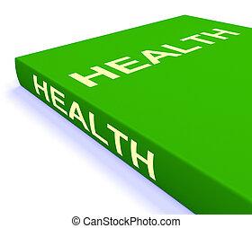 aproximadamente, estilo vida, saudável, livros, saúde, livro, mostra