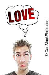 aproximadamente, homem, amor, pensa, jovem