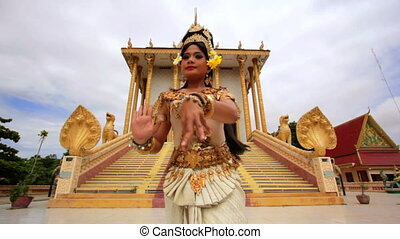 Apsara Dancer Performance in Temple