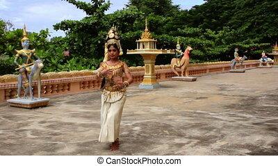 Apsara Dancer Performance in Temple