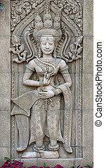 Apsara sculptures at Angkor Wat