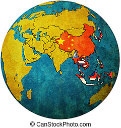 APT on globe map with asia