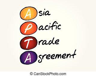 apta, -, dohoda, asie, obchod, pokojný
