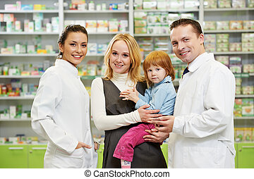 apteka, dziecko, aptekarz, drogeryjny, macierz