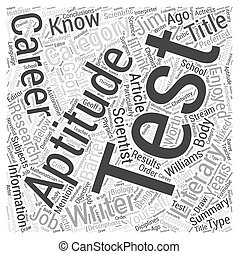Aptitude Test Know Yourself Word Cloud Concept
