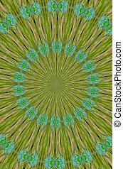 Aqua and green pattern - A kaleidoscope pattern of ...