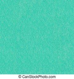 Aqua-blue color felt texture for design. Seamless square background, tile ready.