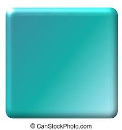 Aqua Blue Square Button