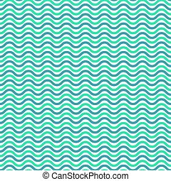 Aqua blue waves seamless pattern