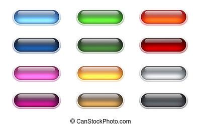 aqua, botões, (2)