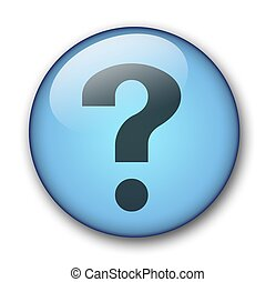 aqua button - aqua question button