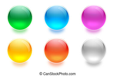 Aqua buttons for interfaces