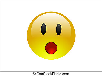 Aqua Emoticons - Surprise - A surprised emoticon