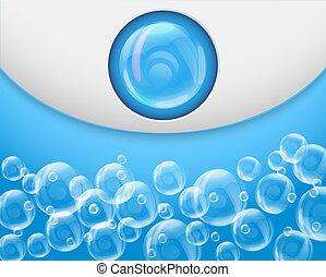 aqua, jacuzzi, fondo, terme, bolle, sapone
