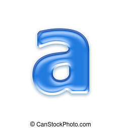 Aqua letter isolated on white background  - a