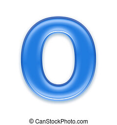 Aqua letter isolated on white background  - O