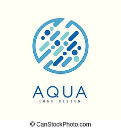 Aqua logo design, brand identity template, ecology element for poster, banner, card, presentation vector Illustration on a white background