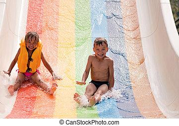 aqua park, dzieci