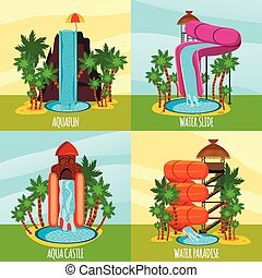 Aqua Park Flat Design Concept
