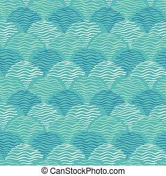 aqua, vetorial, papel parede, projetos, azul, ilustração, pattern., água, seamless, ondas, scrapbooking, bacgrounds., experiência., ou, ondulações, tecido