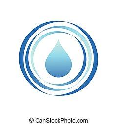 aqua water drop template