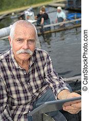 aquaculture owner posing