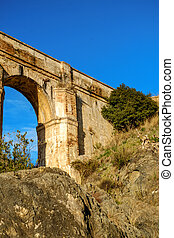 Aquaduct Arroyo de Don Ventura, Malaga province, Spain