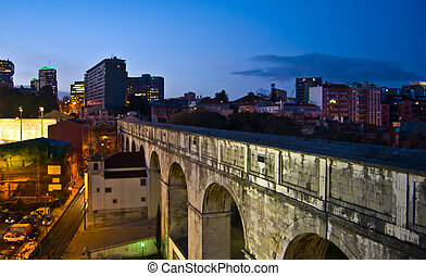 Aquaduct - view of the old roman aquaduct in Lisbon