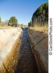 Aquaduct - An open cement channel with irrigation water...
