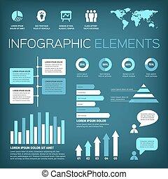 aquamarijn, kleur, infographic, communie