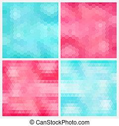 Aquamarine and pink backgrounds - Happy abstract aquamarine...