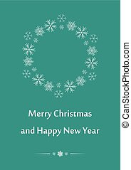 aquamarine greeting card for christmas - vector background