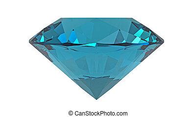 Aquamarine jewel isolated on white background, 3d render