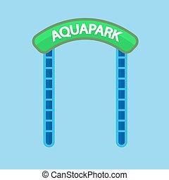 aquapark, 入口の 印