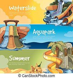 aquapark., 水, スライド