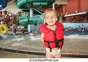 aquapark, criança