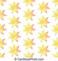 Aquarel star, vector vintage seamless pattern eps 10