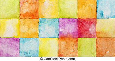 aquarela, abstratos, coloridos, fundo