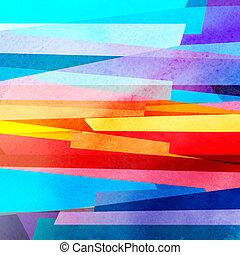 aquarela, abstratos, geomã©´ricas, fundo