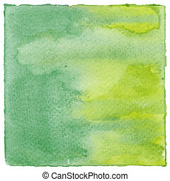 aquarela, abstratos, verde